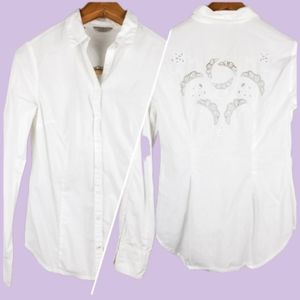 Guess white button-down shirt size small